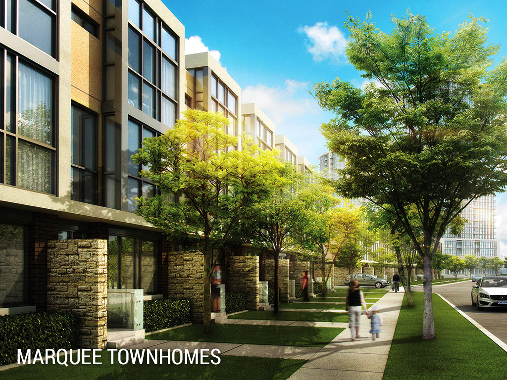 The marquee townhomes downtown mississauga squareonelife for Modern homes mississauga