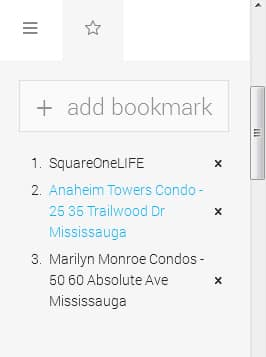 square one condo SquareOneLIFE Website Update 1 SquareOneLIFE Bookmark Feature