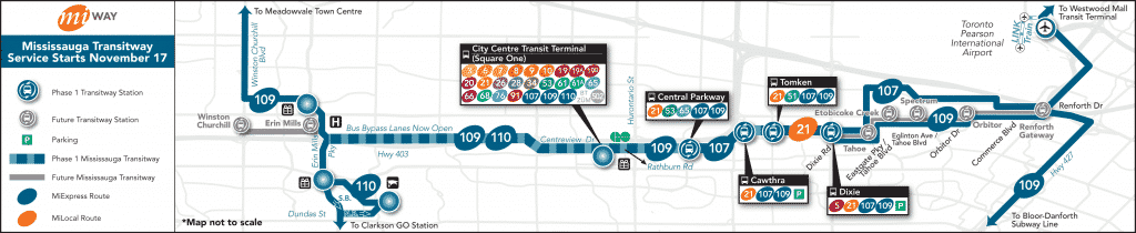 Mississauga Transitway Route Map mississauga transitway Mississauga Transitway – Everything you need to know Mississauga Transitway Route Map 1024x210