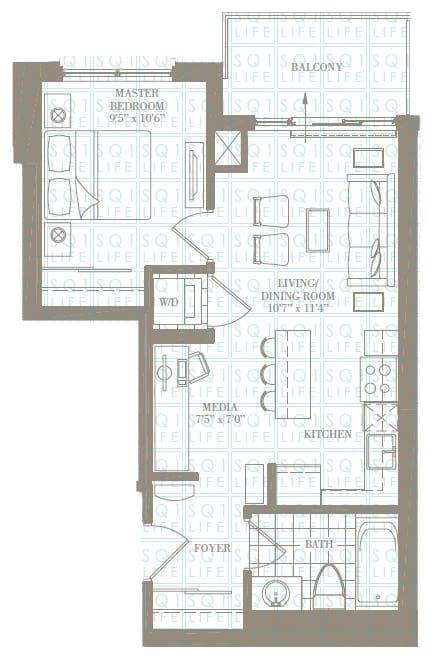 1+1-Bed-1-Bath-The-Bridgeport-551-sqft chicago condo Chicago Condo 1 1 Bed 1 Bath The Bridgeport 551 sqft
