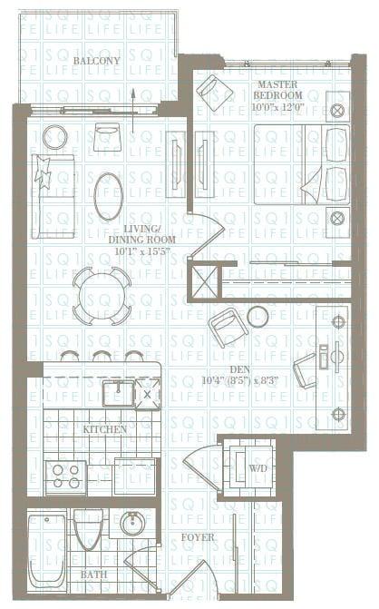 1+1-Bed-1-Bath-The-Newcastle-652-sqft chicago condo Chicago Condo 1 1 Bed 1 Bath The Newcastle 652 sqft