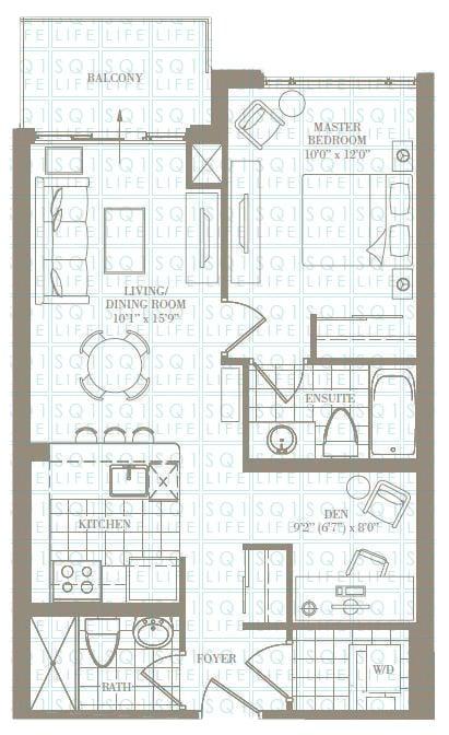 1+1-Bed-2-Bath-The-Charlotte-697-sqft chicago condo Chicago Condo 1 1 Bed 2 Bath The Charlotte 697 sqft