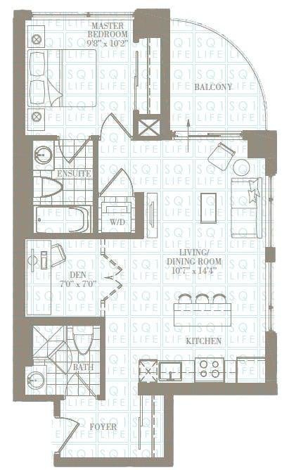 1+1-Bed-2-Bath-The-ForestGlen-709-sqft chicago condo Chicago Condo 1 1 Bed 2 Bath The ForestGlen 709 sqft