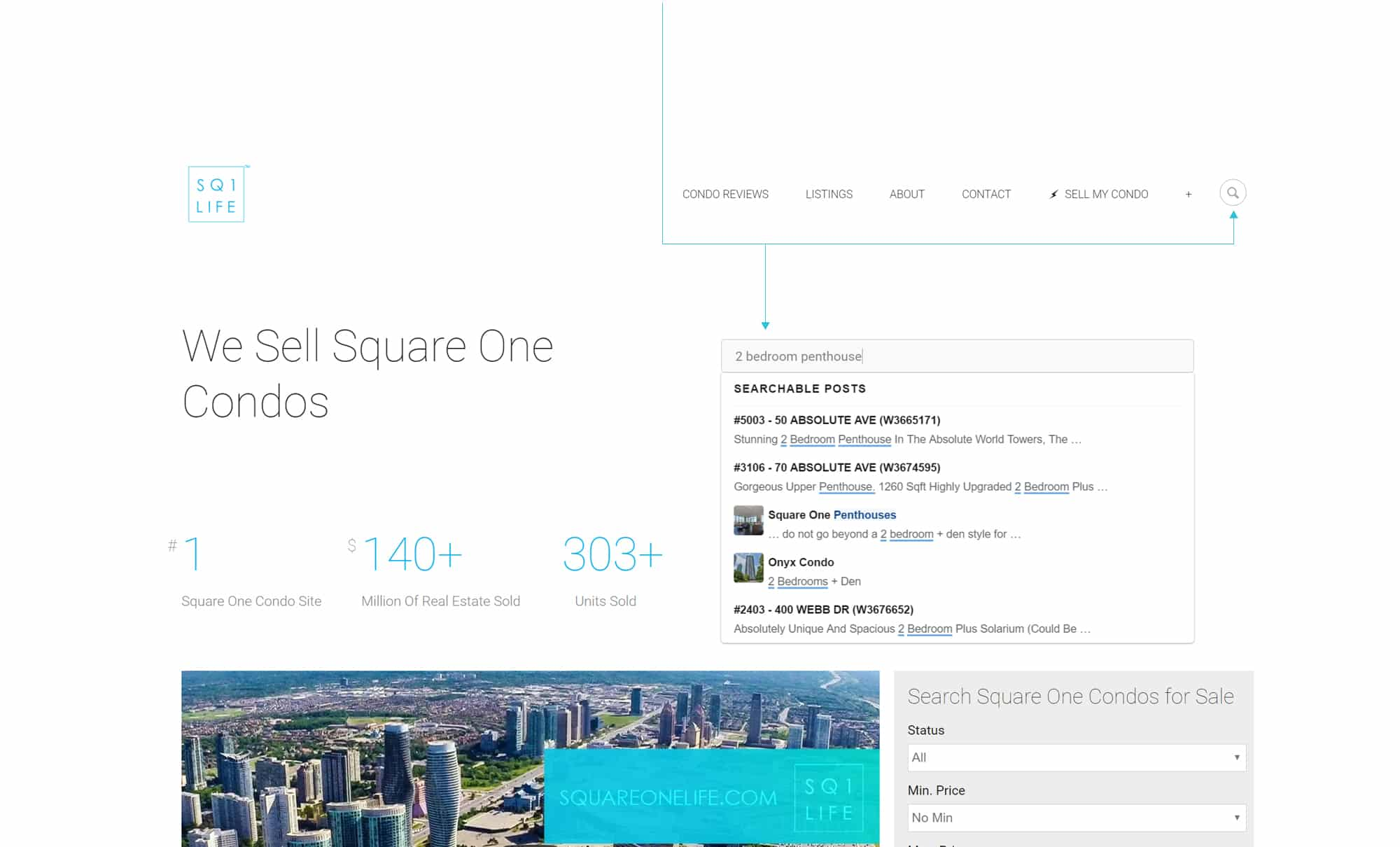 intelligent search New Intelligent Search Feature square one condos mississauga condos squareonelife
