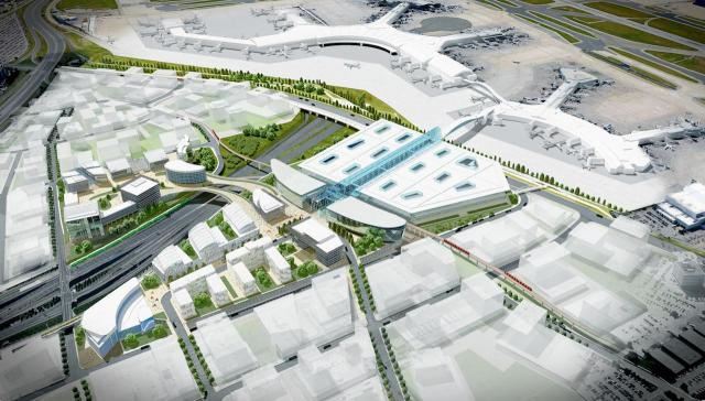 downtown mississauga What Downtown Mississauga Will Look Like In Ten Years mississauga transit hub pearson international airport yyz mississauga future square one