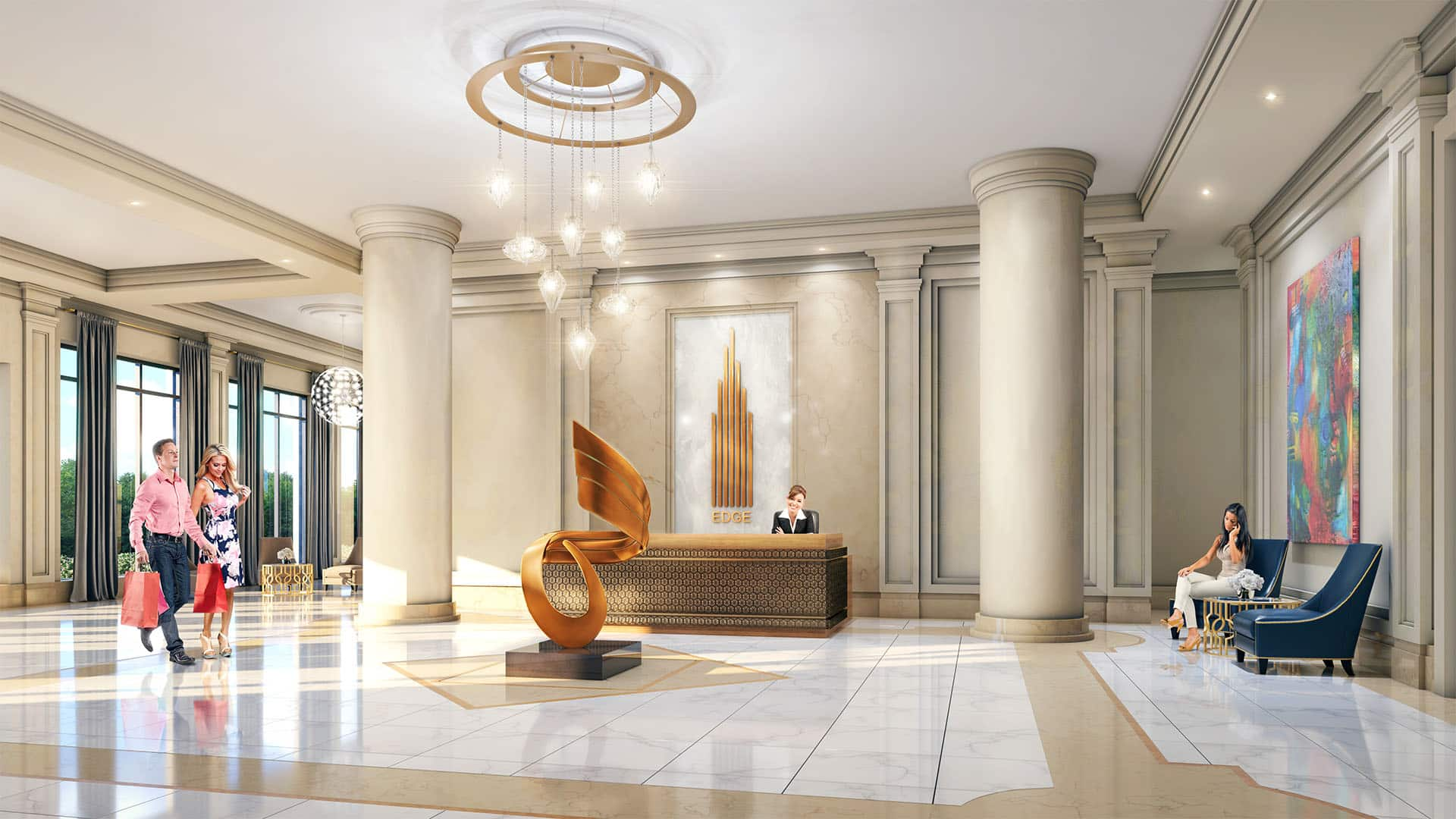cooksville go Edge Tower 2 Condos edge towers 2 mississauga square one condos for sale lobby