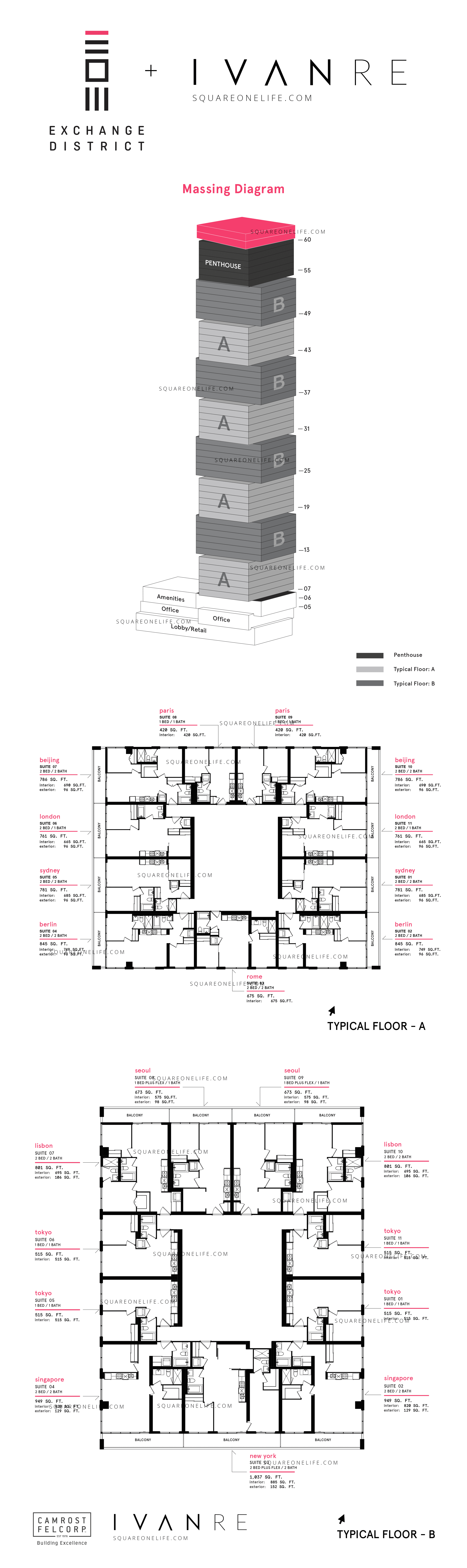 [object object] Exchange District Mississauga by Camrost Felcorp Exchange District Condos Schematic